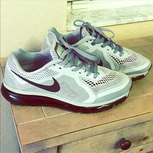 Nike Air Max 2014 Wolf Grey Blk Size 11
